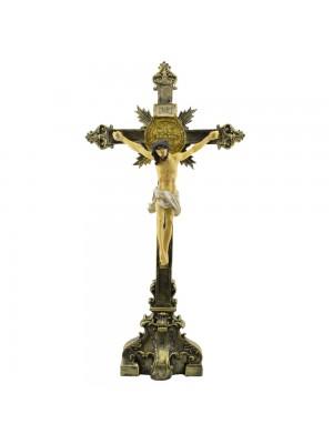 Crucifixo De Mesa 53,5cm - Enfeite Resina