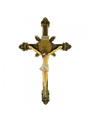 Crucifixo De Parede 26.5cm - Enfeite Resina