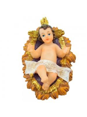 Menino Jesus Na Manjedoura 12cm - Enfeite Resina