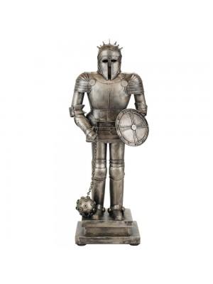 Armadura Medieval Escudo E Mangual 44.5cm Estilo Retrô - Vintage