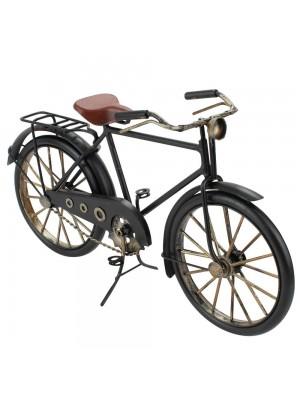 Bicicleta Preta 16.5x28x7.5cm Estilo Retrô - Vintage