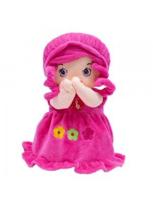 Boneca Vestido Pink Rezando Pai Nosso 24cm
