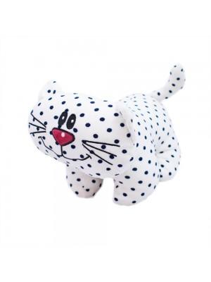 Gato Branco Pintas Pretas 30cm - Pelúcia