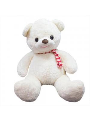 Urso Branco Laço 58cm - Pelúcia
