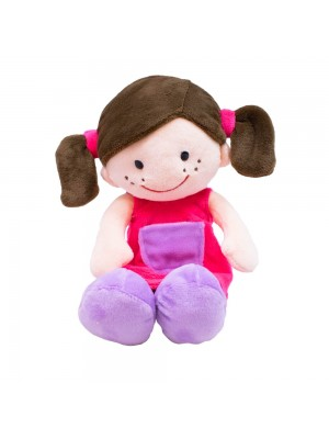 Boneca Sorridente Roupa Pink 29cm