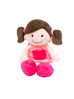 Boneca Sorridente Roupa Rosa 29cm
