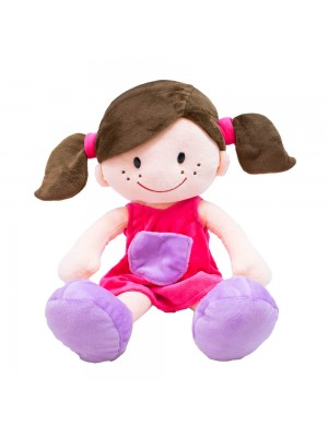 Boneca Sorridente Roupa Pink 44cm
