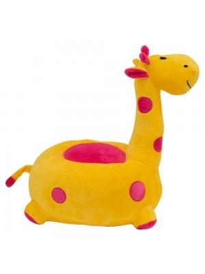 Puff Girafa Amarelo 48cm - Pelúcia