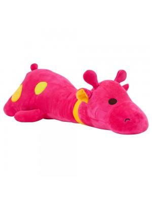 Girafa Deitado Pink 65cm - Pelúcia
