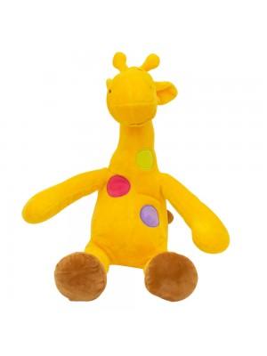 Girafa Amarela Pintas Coloridas 37cm - Pelúcia