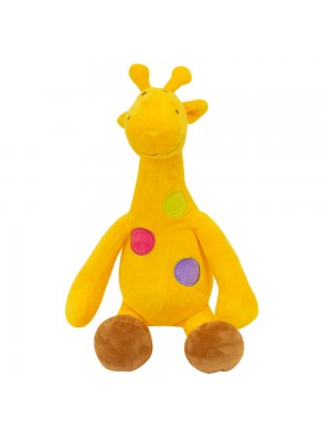 Girafa Amarela Pintas Coloridas 29cm - Pelúcia