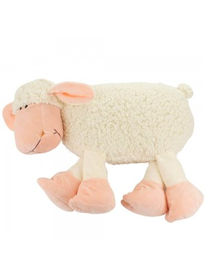 Almofada Ovelha Branca Deitada 40cm - Pelúcia