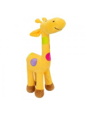 Girafa Amarela Com Pintas Coloridas 34cm - Pelúcia