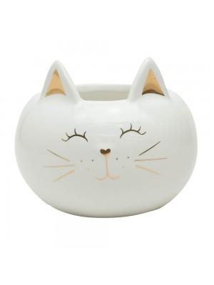 Vaso Cerâmica Gato 9cm