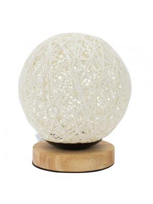 Luminária Bola Branca 18x15x15cm