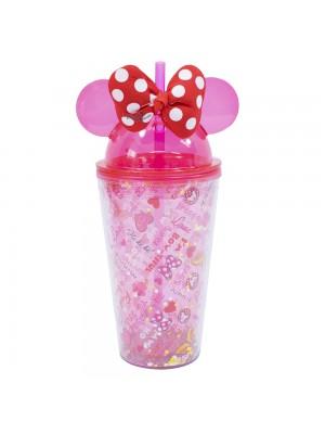 Copo Com Laço Orelhas Minnie Rosa 450ml - Disney