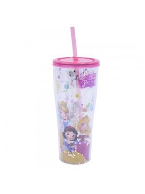 Copo com canudo Princesas Disney 360ml - Disney
