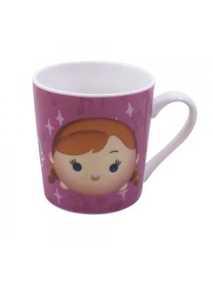 Caneca De Porcelana Rosa Anna Elsa & Olaf Frozen Tsum Tsum 250ml - Disney