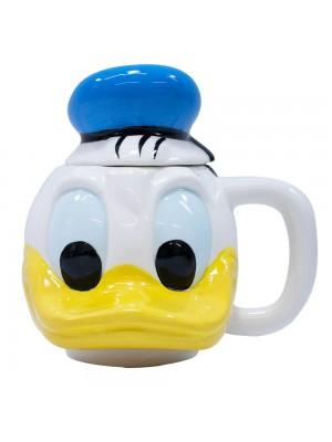 Caneca Porcelana Rosto Pato Donald 470ml - Disney