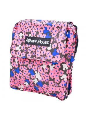 Bolsa Dobrável De Viagem Florido Rosa Mickey Mouse 46X37cm - Disney