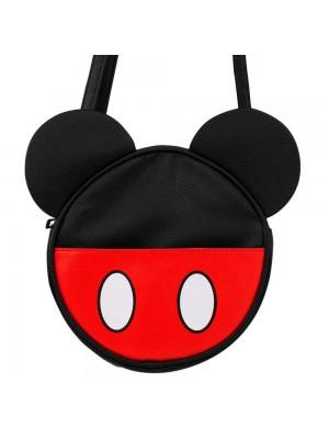 Bolsa Tiracolo Circular Rosto Cores Mickey 22x6x22cm - Disney