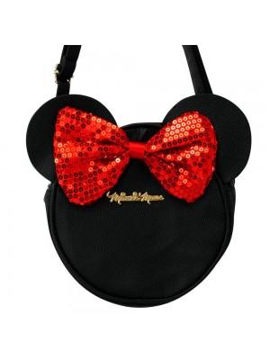 Bolsa Tiracolo Circular Rosto Assinatura Minnie 22x6x22cm - Disney