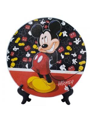 Suporte Panela Vidro Mickey 20x20cm - Disney