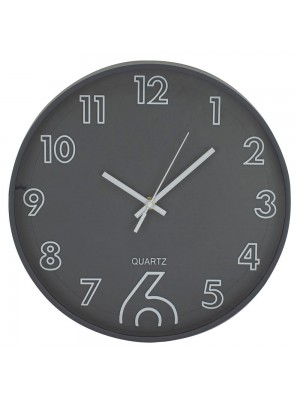 Relógio Parede Cinza Escuro 30x30cm