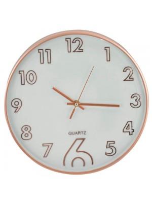 Relógio Parede Rosê 30x30cm