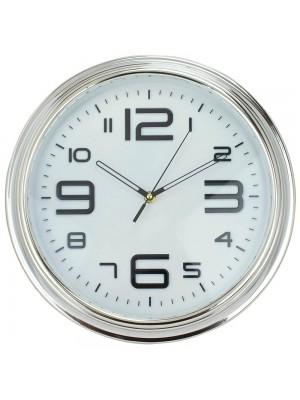 Relógio Parede Redondo Prateado 33x33cm