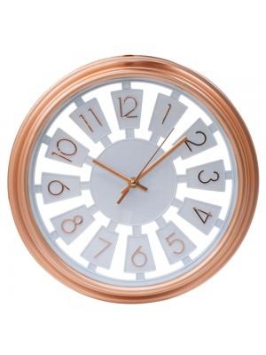 Relógio Parede Rosê 33x33cm