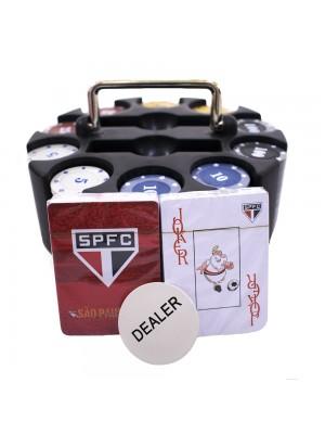 Jogo De Poker 200 Fichas E Baralhos - Spfc