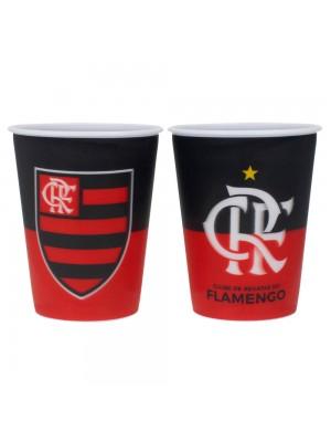 Jogo 2 Copos Plástico 3D 400ml - Flamengo