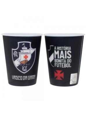 Jogo 2 Copos Plástico 3D 400ml - Vasco