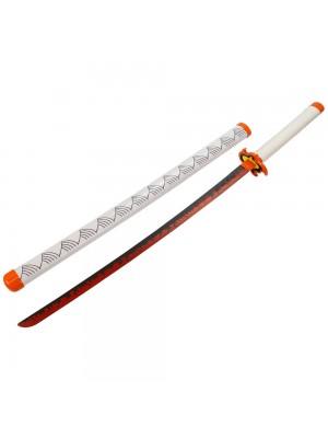 Espada Decorativa Japonesa Katana Branca Samurai Modelo A 75cm