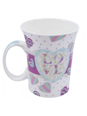 CANECA DE PORCELANA LOVE 300ML