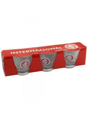 Jg. 3 Xícaras Vidro 100ml - Internacional