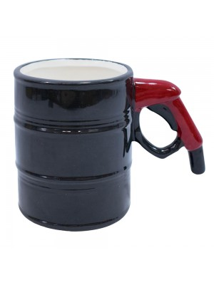 Caneca porcelana criativa barril gasolina 420ml