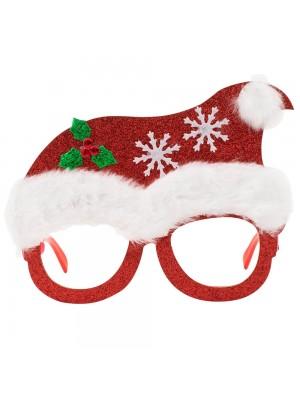 Óculos Natalino Vermelho 12x16cm - Enfeite Natalino