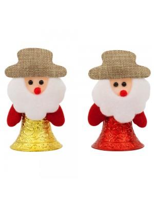 Jg Papai Noel Sino Vermelho Amarelo 11cm - Enfeite Natalino
