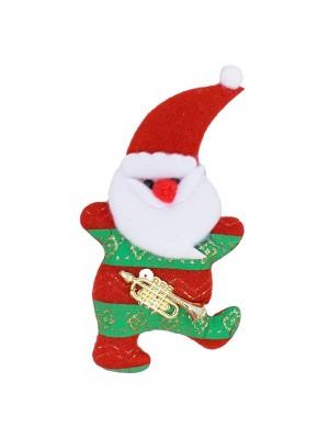 Ímã Geladeira Papai Noel Saxofone 13cm - Enfeite Natalino