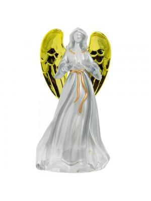 Anjo Reza Acende Luzes Plástico 12cm