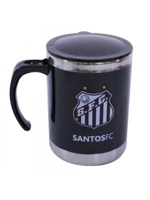 CANECA TÉRMICA COM TAMPA 450ML - SANTOS