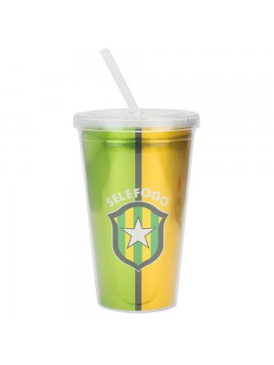 Copo Canudo Selefogo 450ml - Botafogo