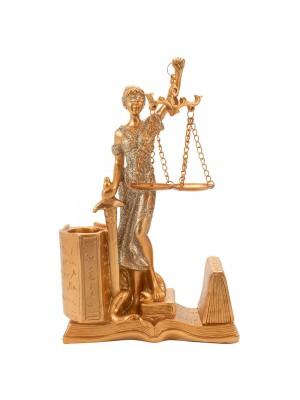 Dama Da Justiça Porta Caneta 20cm - Enfeite Resina