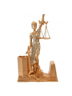 Dama Da Justiça Porta Caneta 25cm - Enfeite Resina