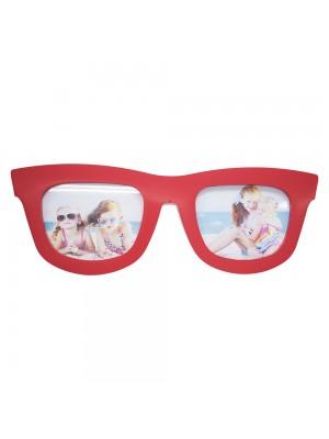 Porta Retrato Óculos Vermelho 2 Fotos (Grande)