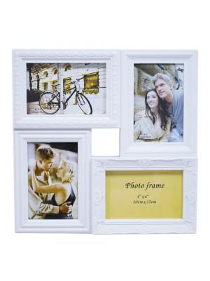 Multi Porta Retrato Branco 4 Fotos 10X15cm