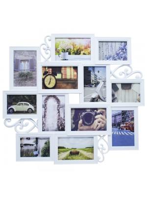 Multi Porta Retrato Branco 8 Fotos 10X15cm 4 Fotos 9X13cm