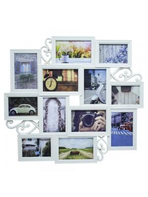 Multi Porta Retrato Bege 8 Fotos 10X15cm 4 Fotos 9X13cm